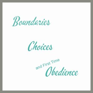 Boundaries, Choices & First Time Obedience