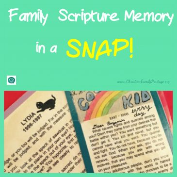 Family Scripture Memory in a Snap