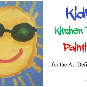 Kids' Kitchen Table Painting Lesson for the Art Deficit Mom by Susan Ekhoff, Part 2