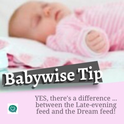 Babywise Tips – What's the Difference Between a Dream Feed and Late Night Feeding?
