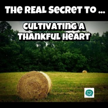 The Real Secret to Cultivating a Thankful Heart